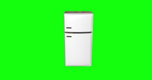 8 animations 3d white metal fridge closing refrigerator closing old closing fridge door refrigerator Animation
