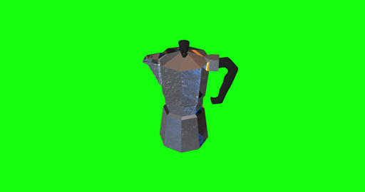 8 animations 3d coffee pot maker pot stove pot coffee metal maker metal stove metal coffee espresso Animation