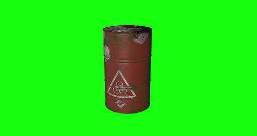 8 animations 3d oil fuel metal drum metal tank metal oil fuel rusty drum rusty tank rusty oil petrol Animation