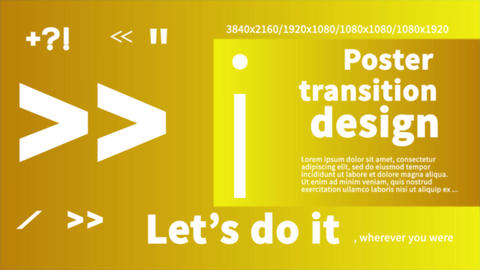 16 Poster Transitions Plantilla de After Effects