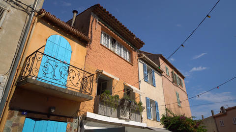 Typical view in the historic district of Saint Tropez- ST TROPEZ, FRANCE - JULY Live Action
