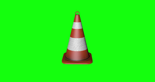 4 animations 3d cone signal pylon signal traffic signal cone attention street attention traffic cone Animation