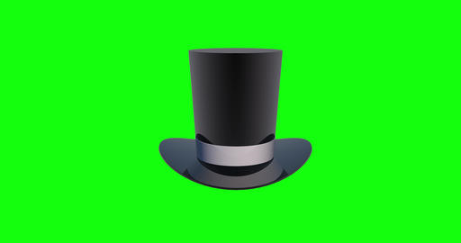 4 animations 3d old top hat green screen magician green screen antique green screen top hat black Animation