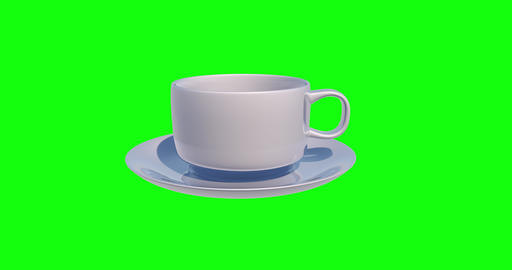 8 animations 3d cup white coffee white breakfast white cup green screen coffee green screen Videos animados