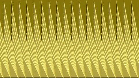 Scrolling gold 3d triangles, animated video background, abstract movie, 4k Animation