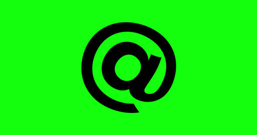 4 animations arroba green screen icon email at sign symbol animations arroba email icon green screen CG動画