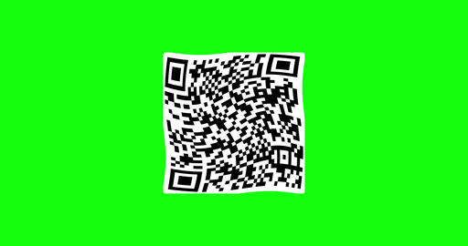 QR green screen code scan logo generator reader animation QR scan code green screen logo green Animation