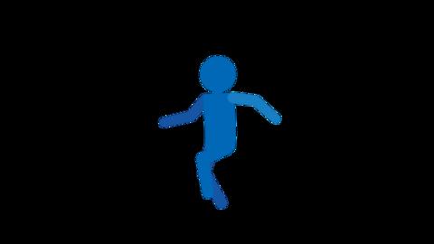 走る ピクトグラム人物 ループアニメ CG動画
