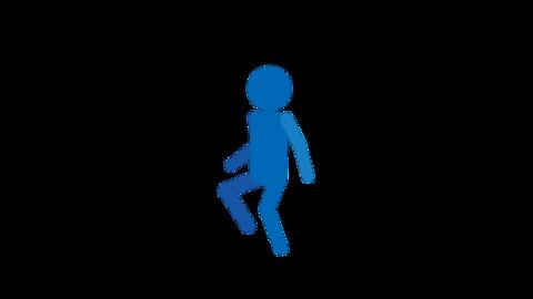 リズミカルに歩く ピクトグラム人物 ループアニメ CG動画