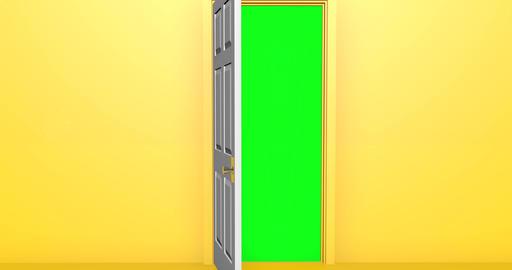 door zoom opening zoom transition enter door green screen opening green screen transition green Animation