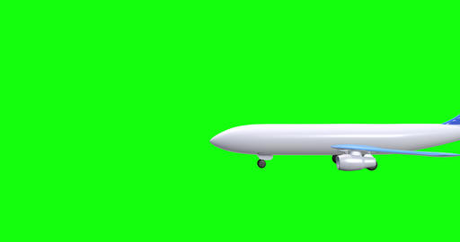 3d Plane trip landing trip travel plane arrival flying tickets travel arrival plane green screen Animation