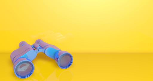 3d blue binoculars magnification vision magnification zoom magnification binoculars view vision view Animation