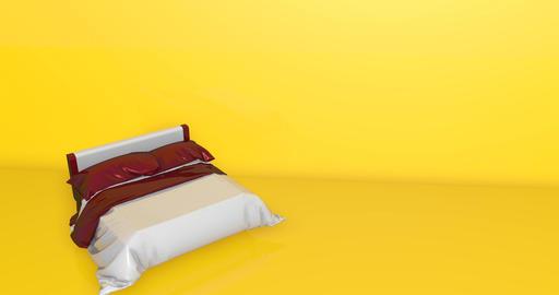 3d bed furniture bedroom sleep hotel king queen animation bed sleep bedroom furniture hotel Animation