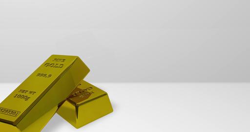 gold bank bars bank ingot bank standard gold reserve bars reserve ingot reserve gold treasure bars Animation
