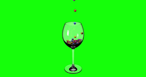 balls colorful glass candy colorful cup beads pearls mini balls falling glass falling cup falling Animation
