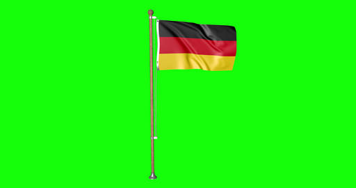flag belgian pole belgian Belgium belgian flag waving pole waving Belgium waving flag green screen Animation