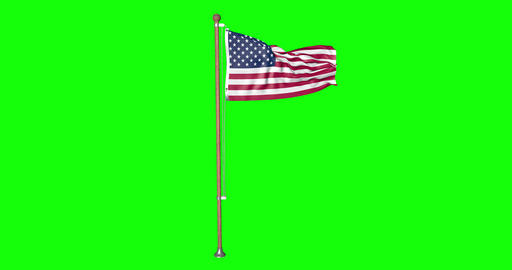 flag United States pole United States usa United States US flag waving pole waving usa waving flag Animation