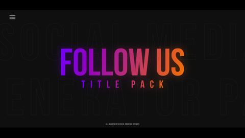 Follow Us Title Pack Apple Motion Template