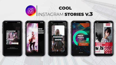 Cool Instagram Stories v 3 After Effects Template