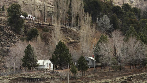 Village in the Andes Mountains, Patagonia Argentina, South America Live Action