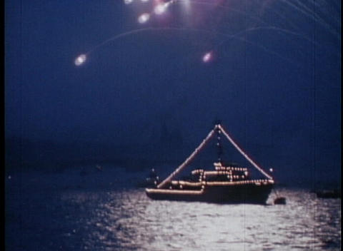 The Russian Navy salutes the Soviet Union with a display... Stock Video Footage