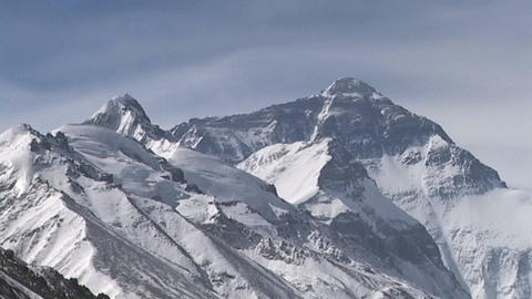 Time lapse of the North Face Massif - Mt. Everest Stock Video Footage