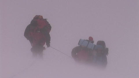 Climbers fight brutal storm on Mt. Everest Footage