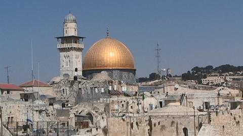 Al-Aqsa Mosque - the Dome of the Rock Footage