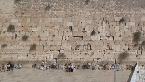 Time lapse of people visiting the Western Wall (Wa Footage