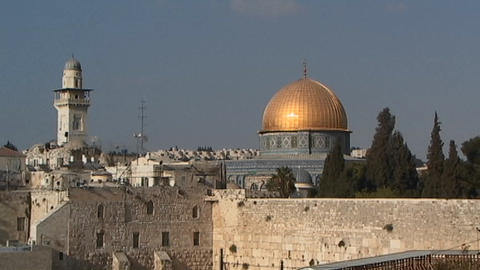 Al-Aqsa Mosque - the Dome of the Rock Stock Video Footage
