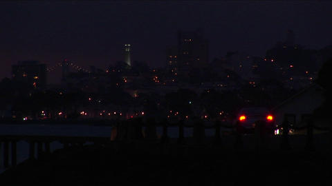 A look at San Francisco's night-time skyline Stock Video Footage