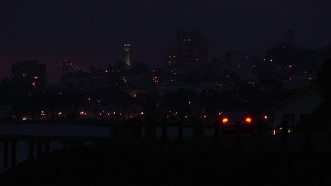 A look at San Francisco's night-time skyline Footage