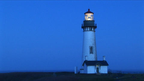 A white flashing beacon breaks up the blue tones of this... Stock Video Footage