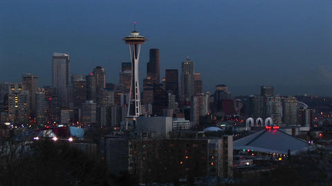 A look at Seattle's stunning skyline with its landmark... Stock Video Footage