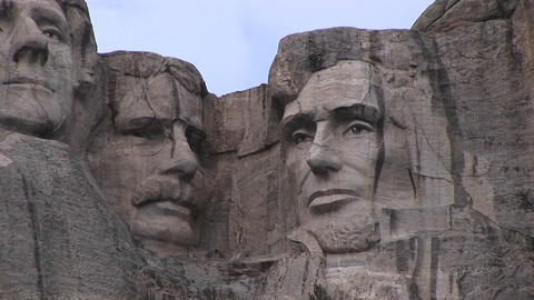 Presidents Theodore Roosevelt and Abraham Lincoln are... Stock Video Footage