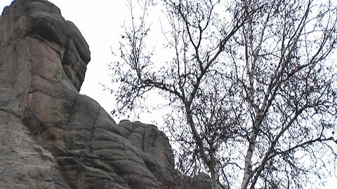 Faces of famous president adorn Mt. Rushmore Stock Video Footage