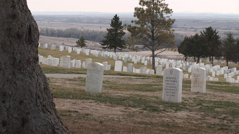 A panoramic view of Arlington National Cemetery with... Stock Video Footage
