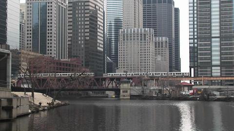 An attractive look at Chicago with modern skyscrapers in... Stock Video Footage