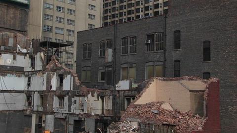 Urban renewal in progress Stock Video Footage
