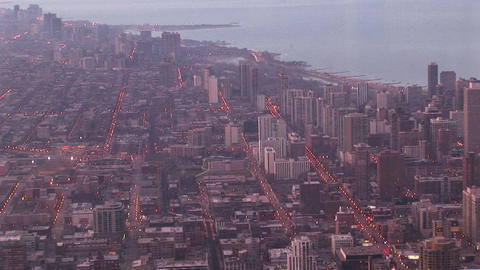 An aerial look at Chicago's urban sprawl Stock Video Footage