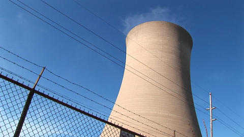 Nuclear power plants generate twenty percent of the electricity produced in the United States Footage