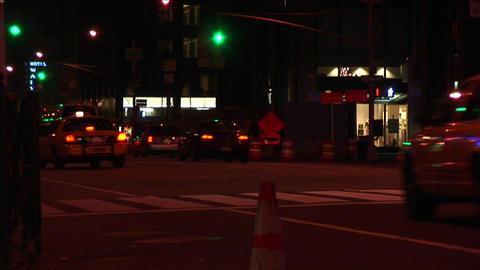Big city traffic at night Stock Video Footage