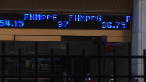 A ticker-tape of stock symbols and latest selling prices... Stock Video Footage