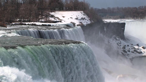 A look at the American side of Niagara Falls Stock Video Footage