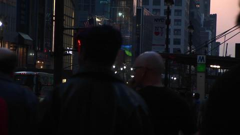 Medium shot of pedestrians walking Stock Video Footage