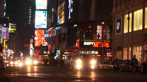 A wonderful view of downtown New York at night with... Stock Video Footage