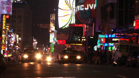 Pedestrians, traffic and lights confirm New York as an... Stock Video Footage