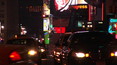 A busy night shot of New York City Stock Video Footage
