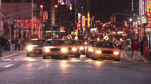 New York City traffic as seen from the middle of a... Stock Video Footage