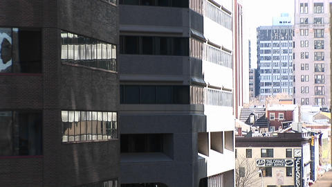 A look at a corner of a building in shadow Stock Video Footage